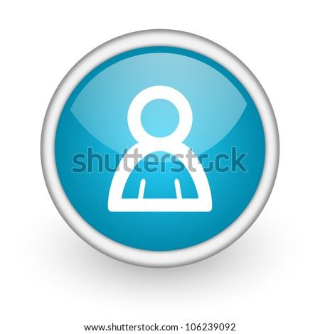 contact icon - stock photo