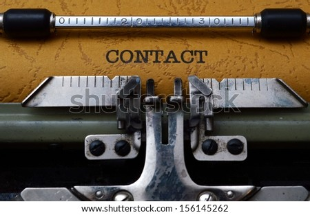Contact on old typewriter