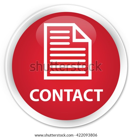 Contact (page icon) red glossy round button - stock photo
