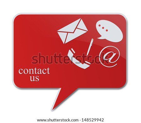 contact signs for business communication - stock photo