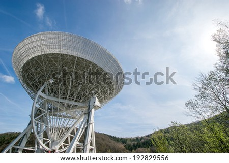 contact to outer space/ radio telescope, Effelsberg, Germany - stock photo