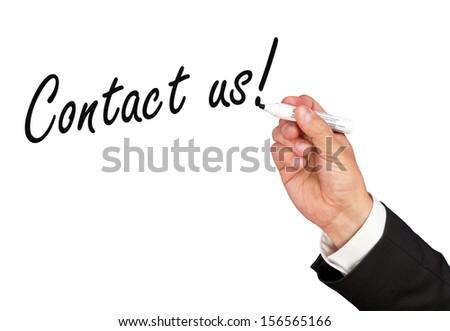 Contact us ! - stock photo