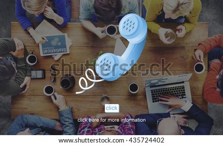 Contact Us Assistance Correspondence Customer Concept - stock photo