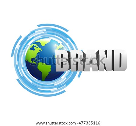 contact us brand technology illustration design graphic