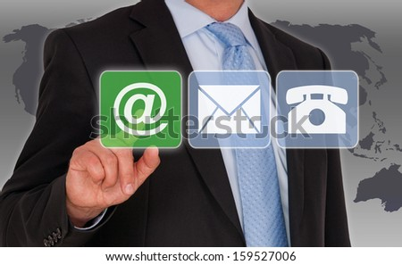 Contact us by eMail - stock photo
