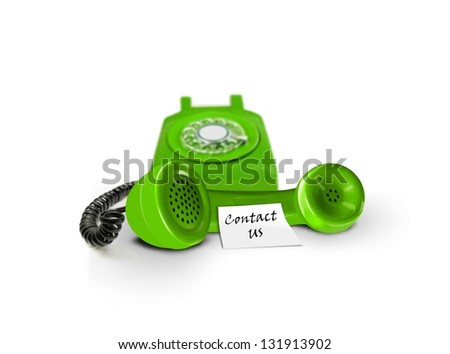 Contact us by phone - stock photo
