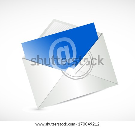 contact us email message illustration design over a white background