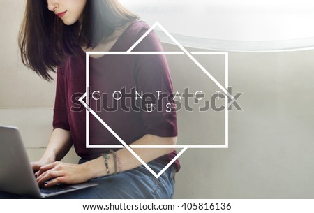 Contact Us Get Touch Reach Out Concept - stock photo