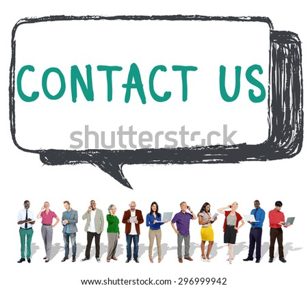 Contact Us Hotline Info Service Customer Care Concept - stock photo