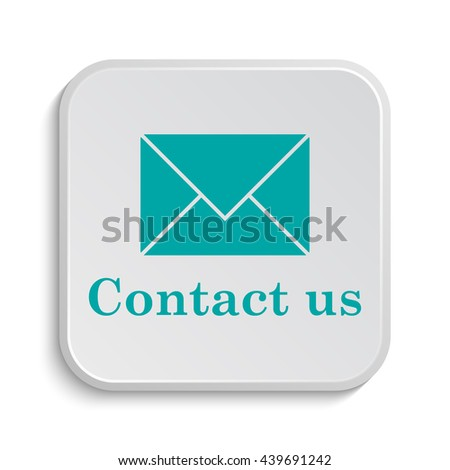 Contact us icon. Internet button on white background. - stock photo