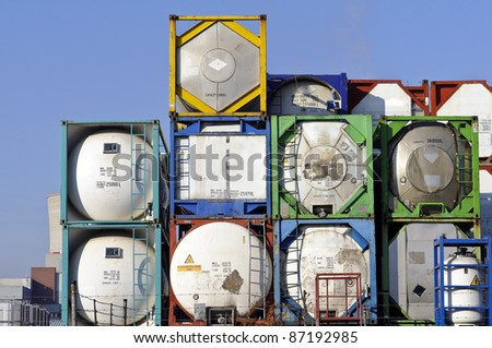 container for transport - stock photo