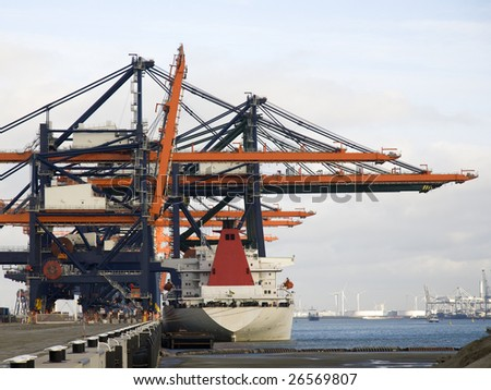 Container harbor - stock photo