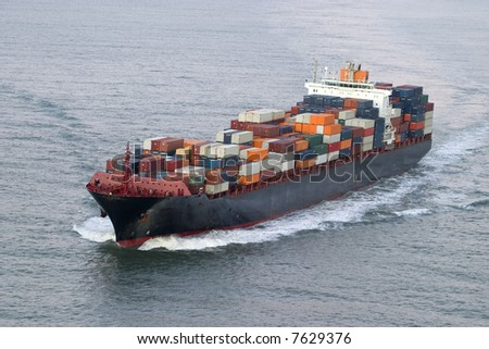 Container Ship, more like this one in my portfolio - stock photo