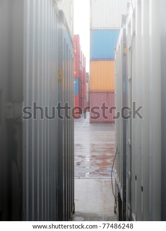 Containers in fog