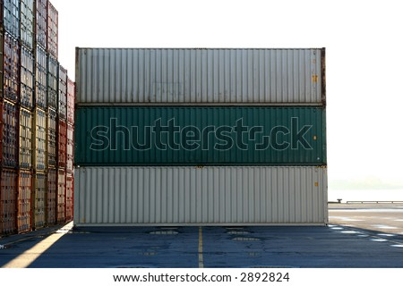 Containers waiting to be loaded in an intermodal yard 2
