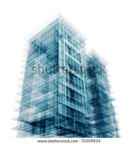 Contemporary architecture - stock photo