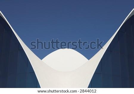 Contemporary architecture. Futuristic building. - stock photo
