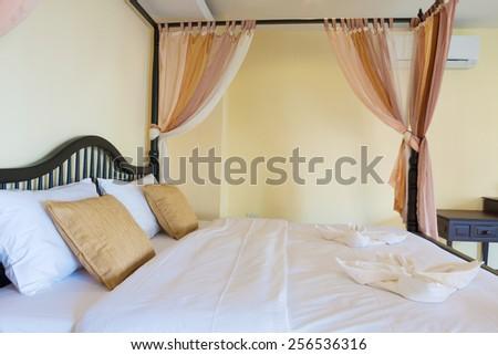 Contemporary bedroom at Banana Garden Beach, Koh lanta, Krabi, Thailand. - stock photo
