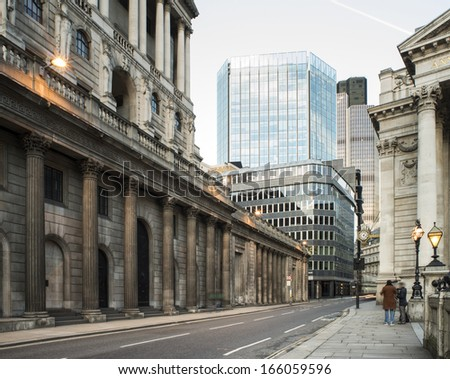 Contemporary Buildings in city of London - stock photo
