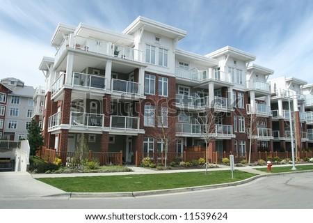 Contemporary Condominium Building - stock photo