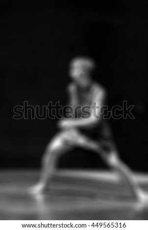 Contemporary dance performance abstract blur background