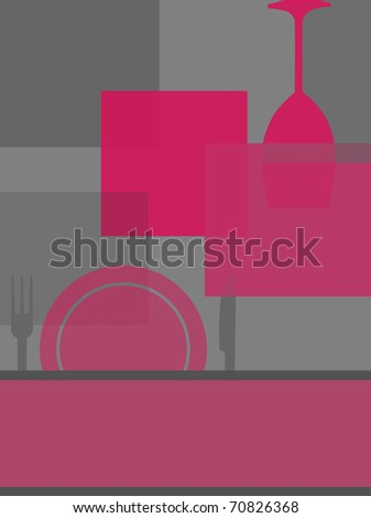 Contemporary design for party invitation card or restaurant menu. - stock photo