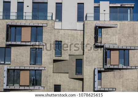 Contemporary Design Multifamily Living Houses Modern Stock Photo ...