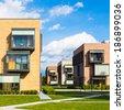 Contemporary eco friendly residential architecture in Ljubljana, Slovenia, Europe. - stock
