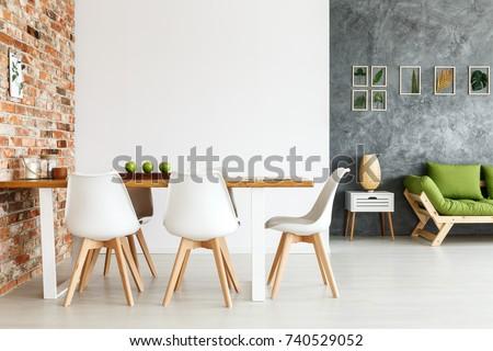 Contemporary Interior Design Dining Space Communal Stock Photo (Edit ...