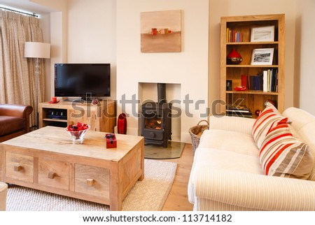 Contemporary interiors - stock photo