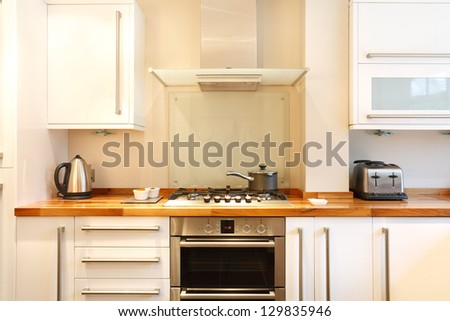 Contemporary kitchen - stock photo