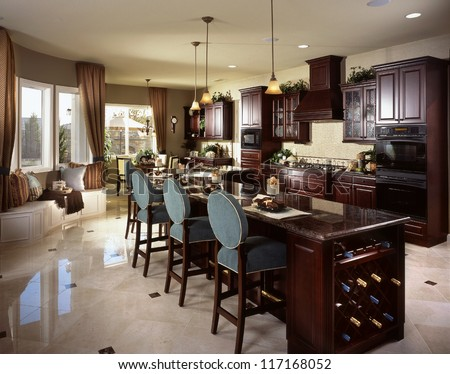 Contemporary Kitchen Architecture Stock Images,Photos of Kitchen,Interior photography. Architectural Photos Stock photos of residential kitchens by architectural photographer - stock photo