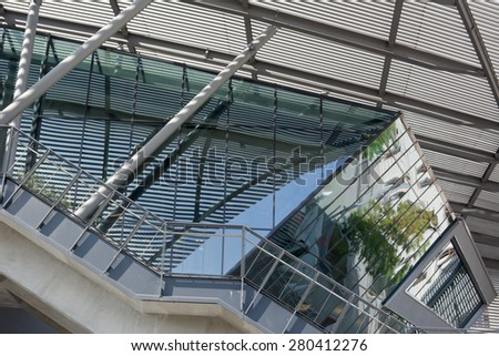 Contemporary Modern Architecture with Abstract Reflections - stock photo