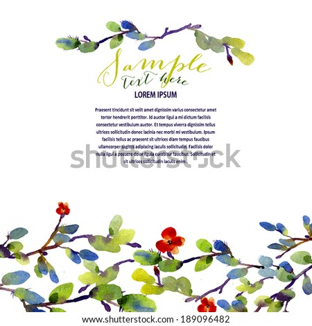 Contemporary nature-inspired background with room for text - stock photo