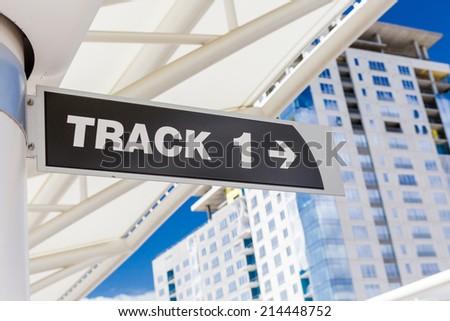 Contemporary platforms of historical Union Station in Denver, Colorado. - stock photo