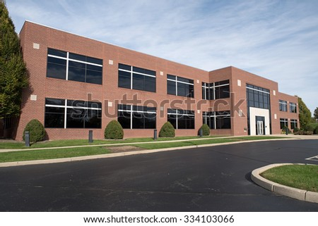 Contemporary Red Brick Building - stock photo