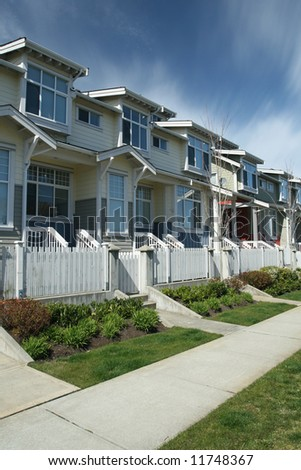 Contemporary Row Homes - stock photo