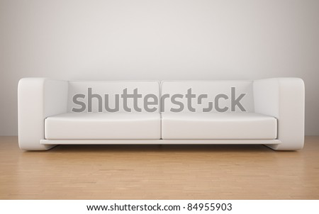 contemporary sofa modern interior background - stock photo