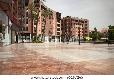 Contemporary square in Marrakech, Morocco - stock photo