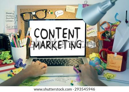 Content Marketing - stock photo
