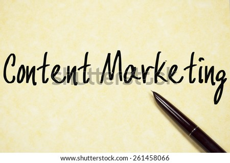 content marketing text write on paper  - stock photo