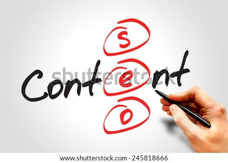 Content SEO (Search Engine Optimization) acronym, business concept - stock photo