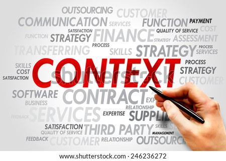 CONTEXT word cloud, business concept