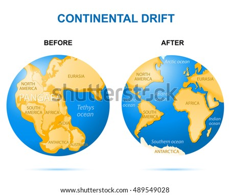 Continental drift on planet earth before stock illustration continental drift on the planet earth before pangaea 200 million years ago publicscrutiny Images