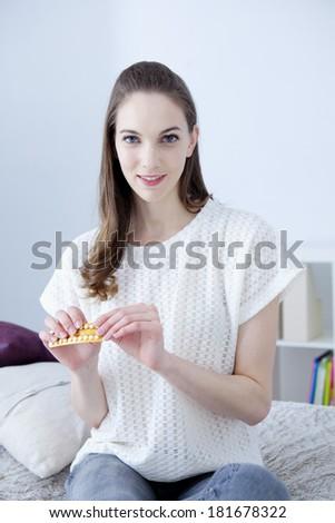 Contraceptive Pill - stock photo