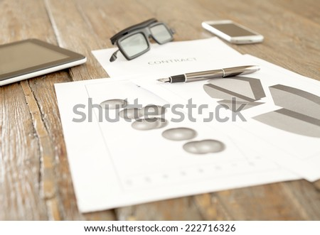 contract,agreement - stock photo
