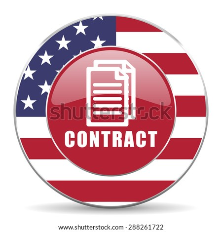 contract american icon original modern design for web and mobile app on white background  - stock photo