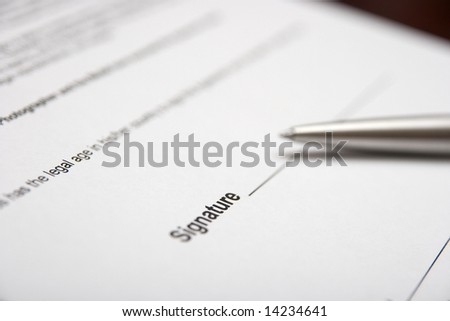 Contract and pen shallow DoF