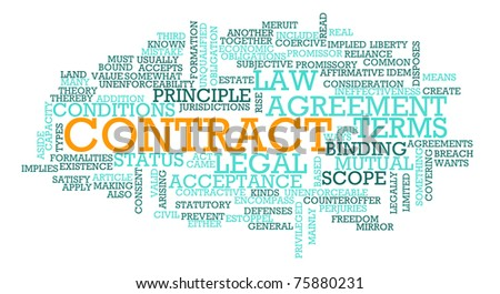 Contract for Business Law on Terms of Agreement - stock photo