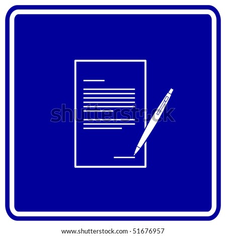 contract sign - stock photo